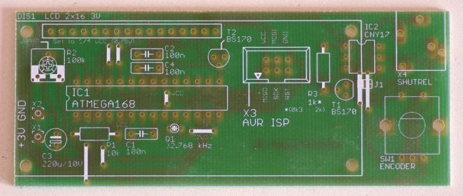 phototrigger elements on PCB board