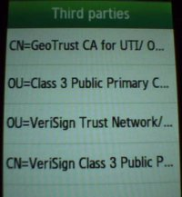 Default certificates for Samsung G5230 (s5230xpik5 firmware)